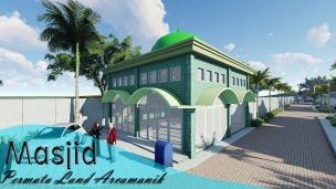 Masjid dalam Komplek One Gate System Dikelilingi komplek perumahan Banyak akses jalan Banyak fasilitas umum di dekat perumahan